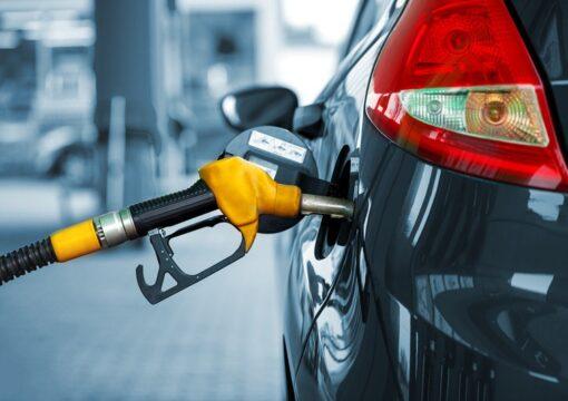 car at petrol pump